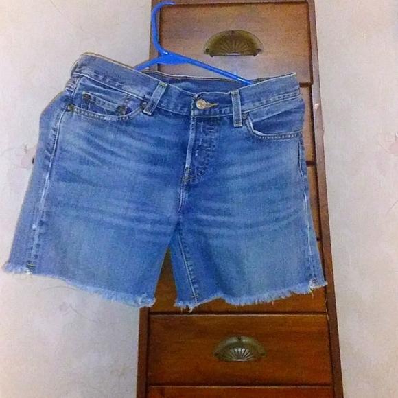 Levi Strauss Cut Off Jean Shorts
